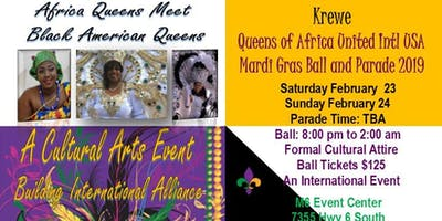 Krewe of Queens of Africa United International Mardi Gras Ball USA