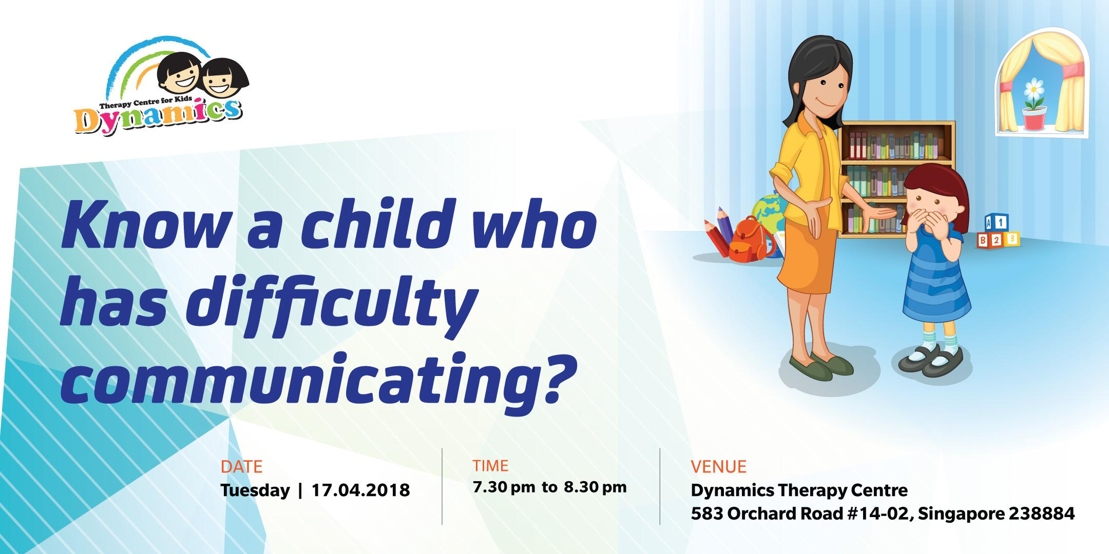 Know A Child Who Has Difficulty Communicating