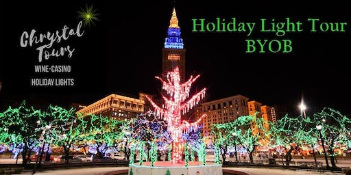 chrystal holiday lights byob limo coach tour cleveland westside