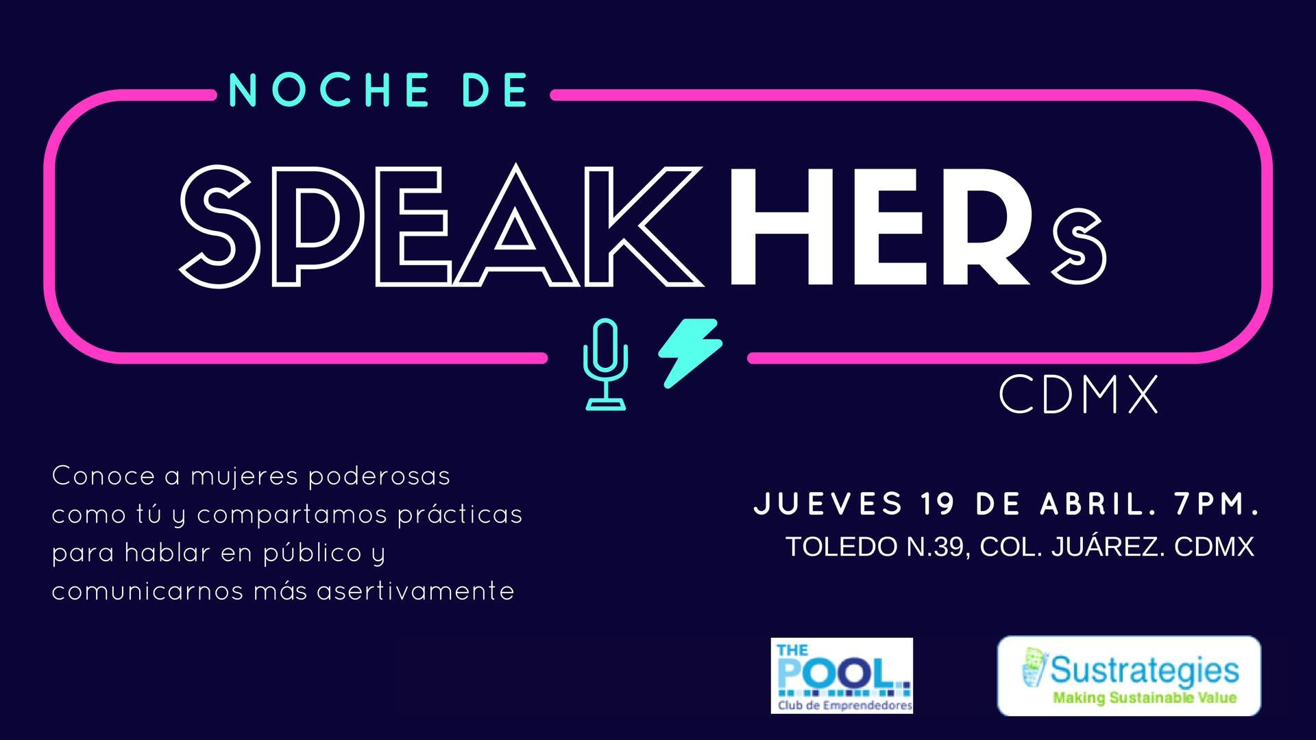 Noche de SpeakHERs Vol.II ABRIL CdMX