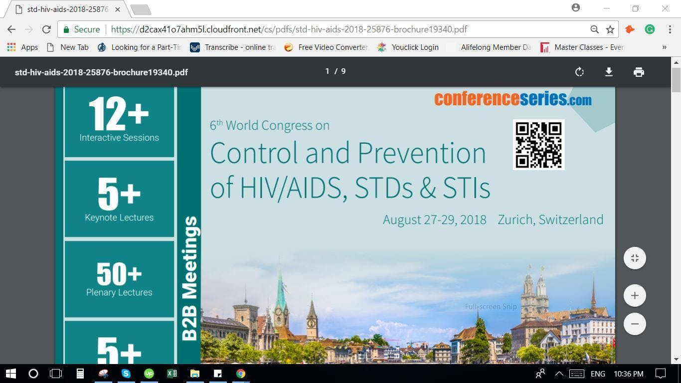 6th World Congress on  Control and Prevention of HIV/AIDS, STDs & STIs (CSE) A