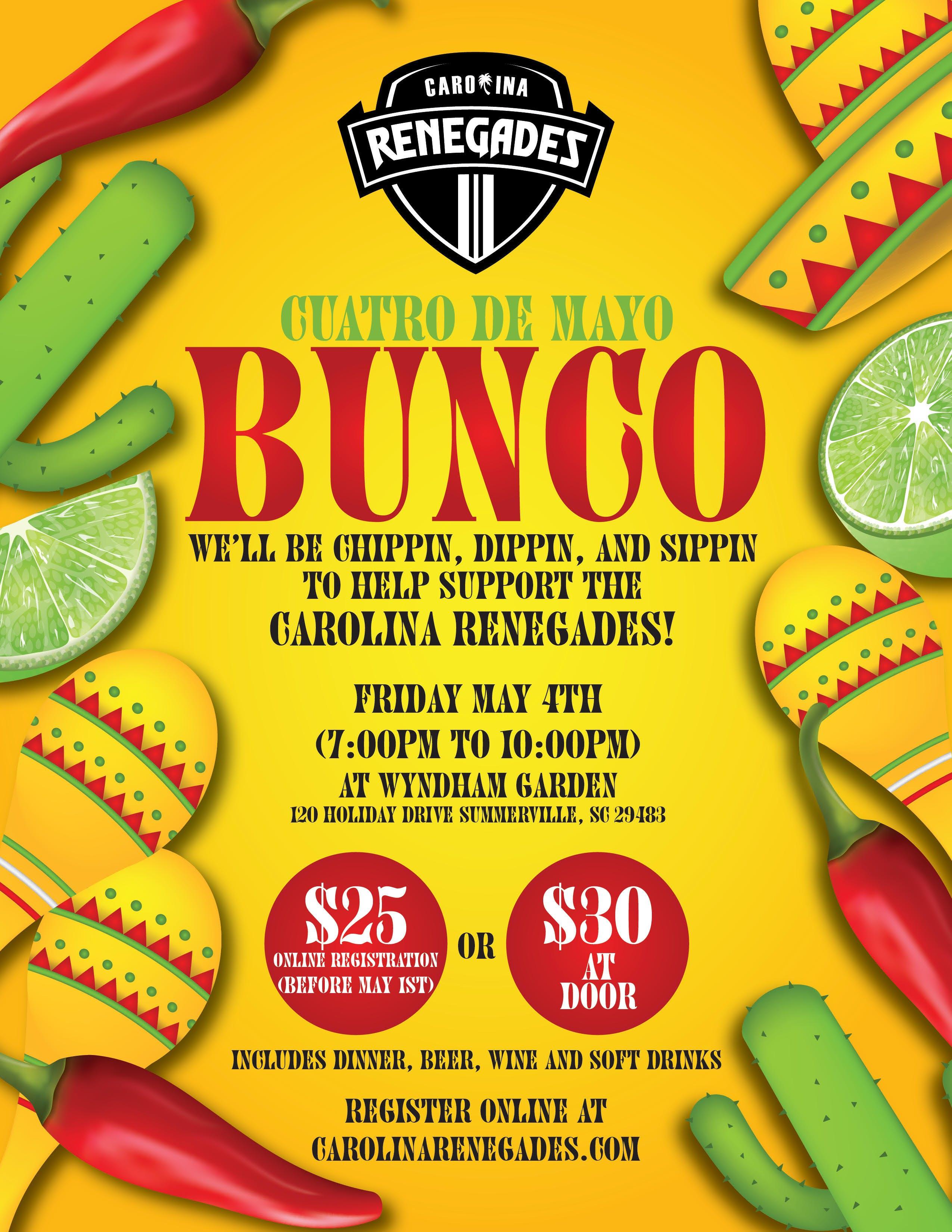 Cuarto De Mayo BUNCO Fundraiser - 4 MAY 2018