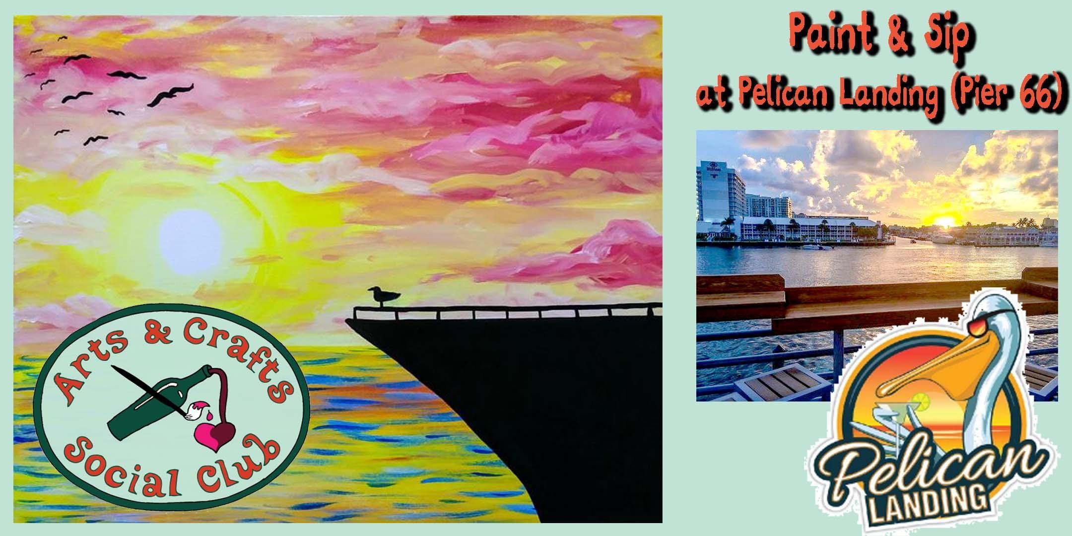 Paint & Sip OFFSITE at Pelican Landing (Pier