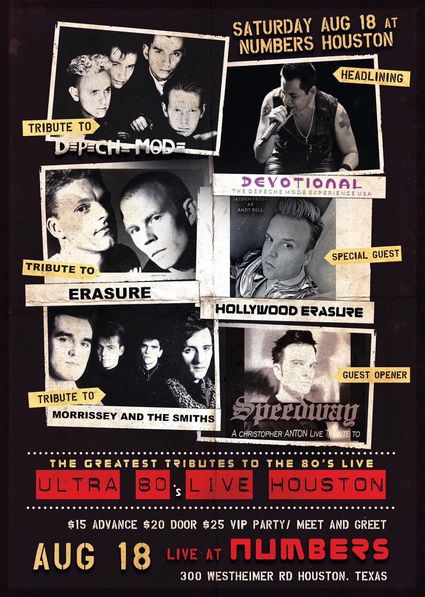 Ultra 80's Tributes to Depeche Mode, Erasure,
