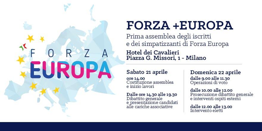FORZA +EUROPA: prima assemblea di iscritti e