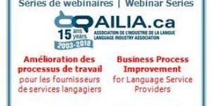 AILIA 2018 Webinar Series - April