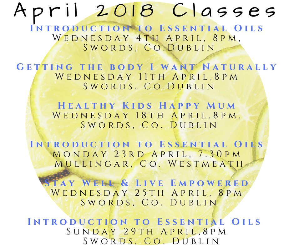 Introduction to Essential Oils, Mullingar 23rd April 2018