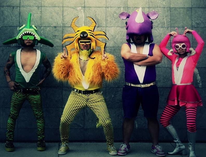 Peelander-Z with OMGWTFBBQ and Mean Jolene