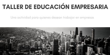 Taller de Educación Empresaria entradas