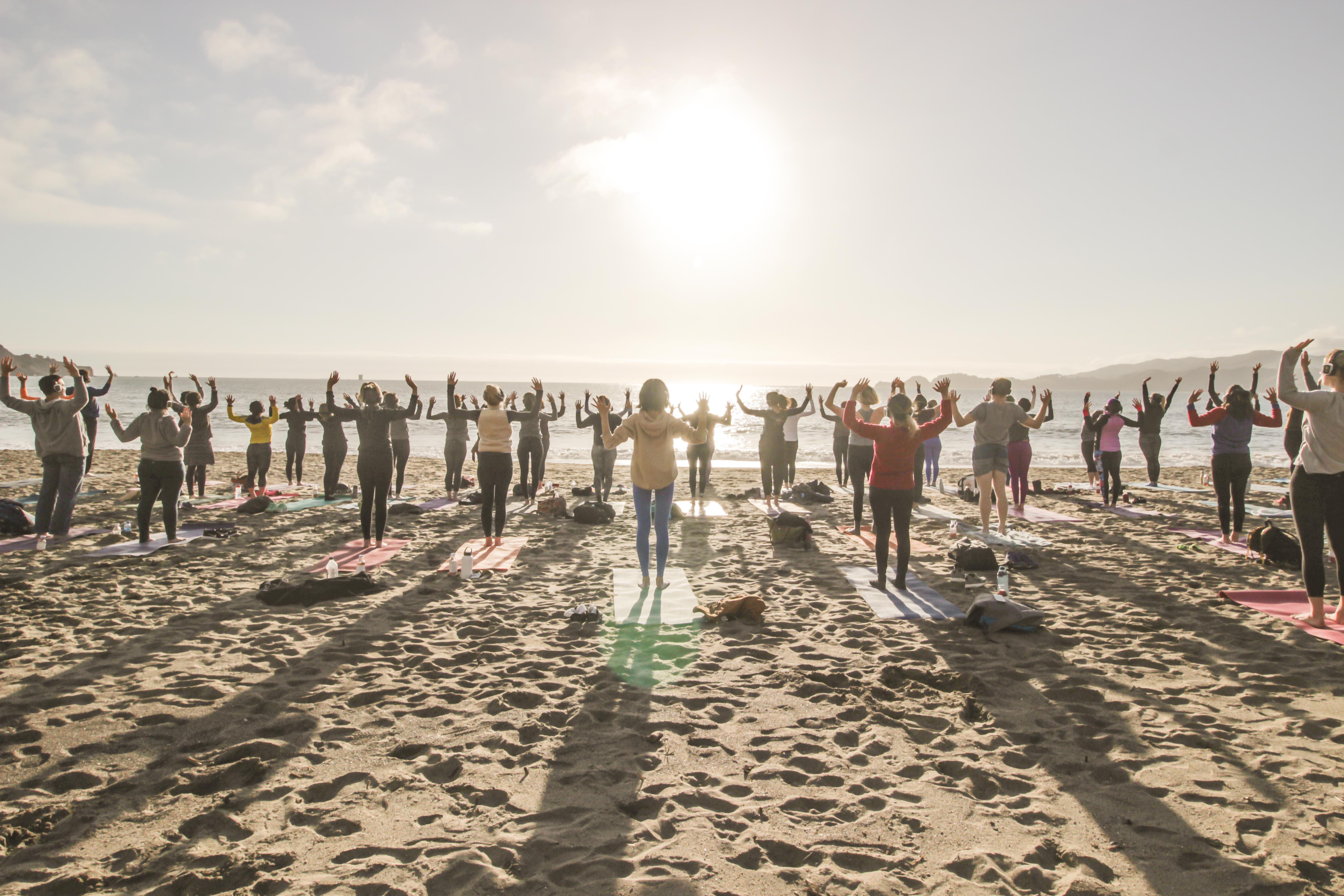 Earth Day! Sunset beach yoga with Nicole Cronin at Baker