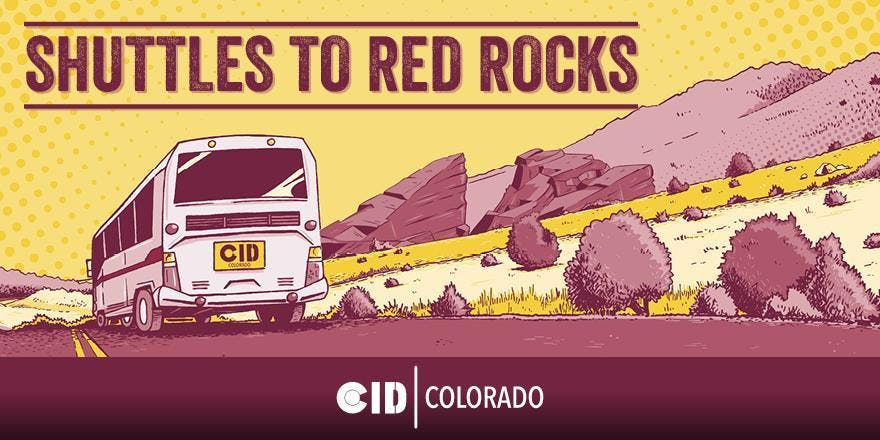 Shuttles to Red Rocks - 3-Day Pass - 6/22, 6/