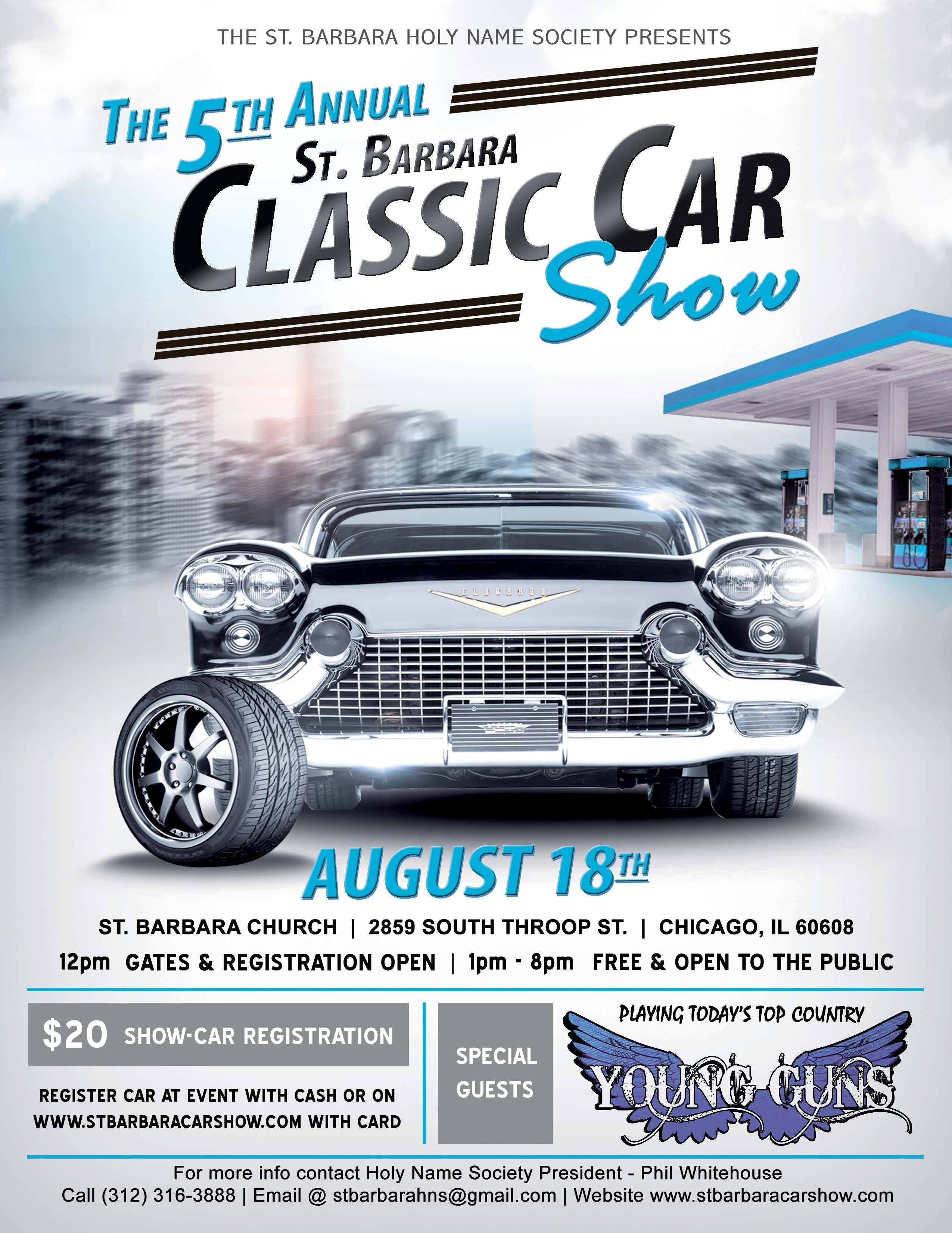 The Th Annual St Barbara Classic Car Show AUG - Is there a car show near me today