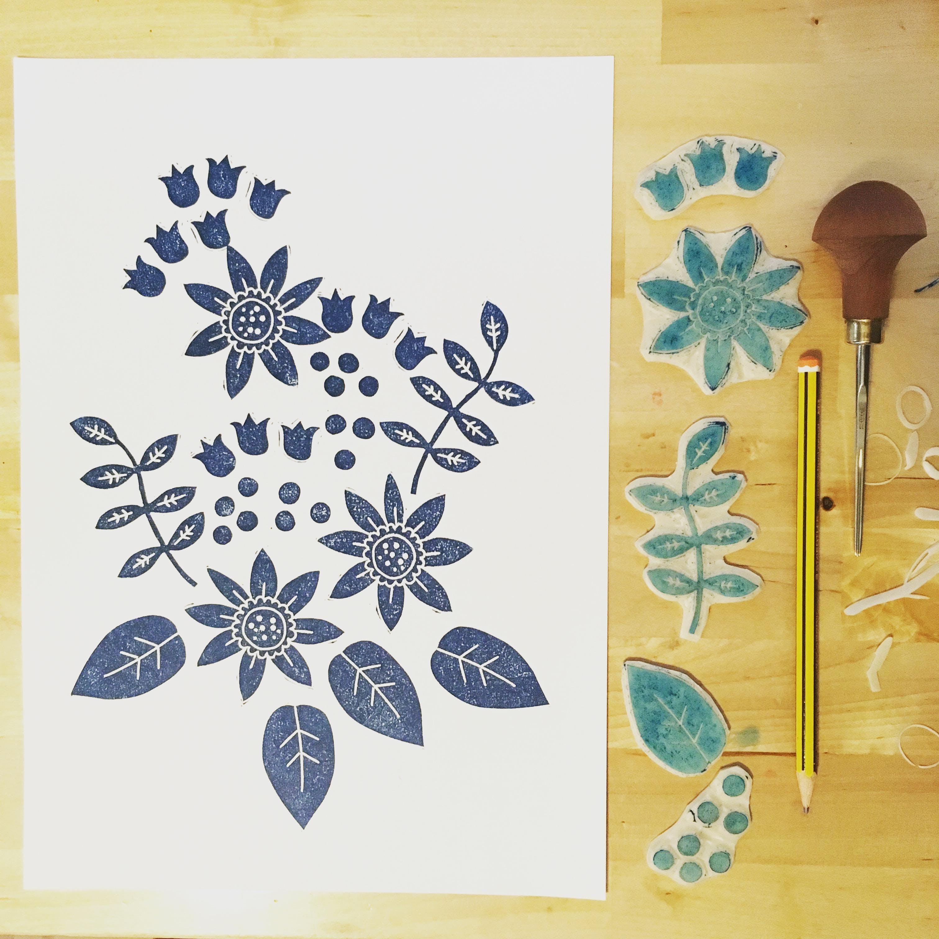 Spring Flower Lino Printing Workshop