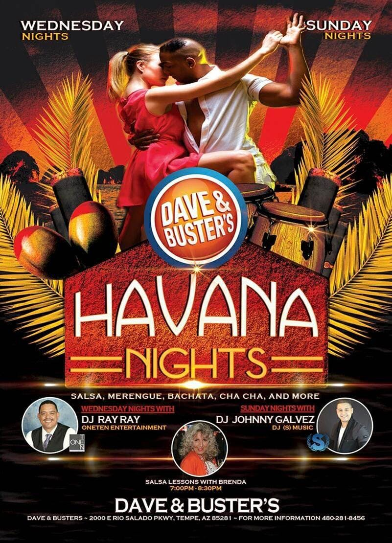 Havana Night at Dave and Buster's