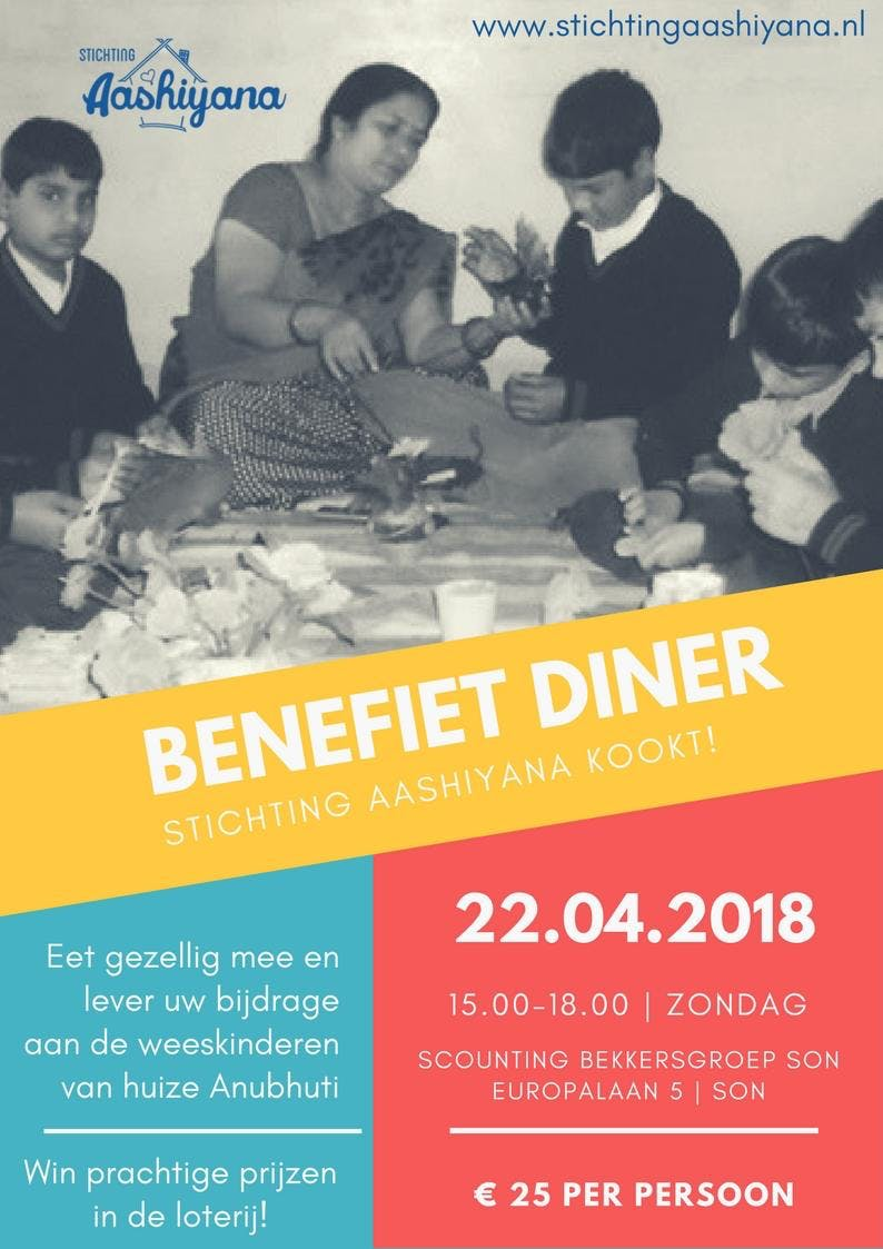 Benefiet Diner Stichting Aashiyana