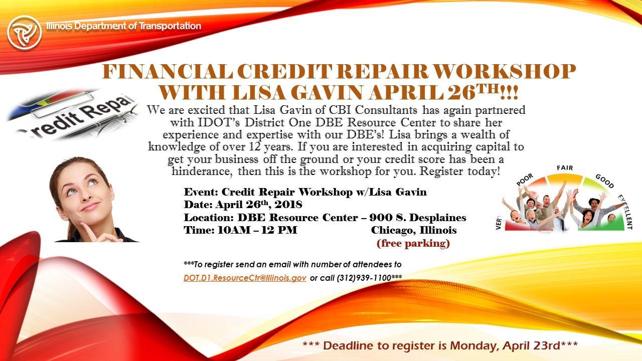Credit Repair Workshop at IDOT's DBE Resource