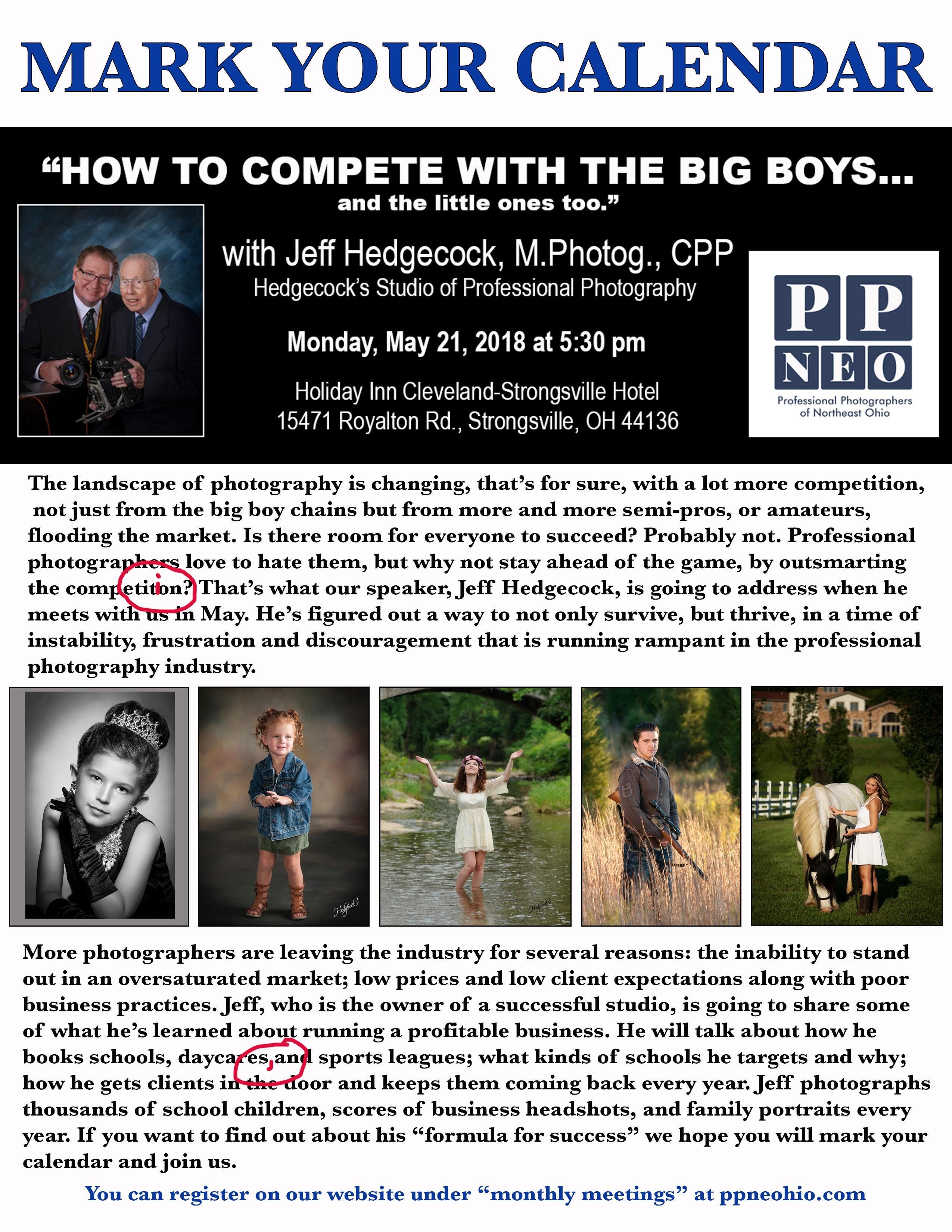 """How to Compete with the Big Boys...and the l"