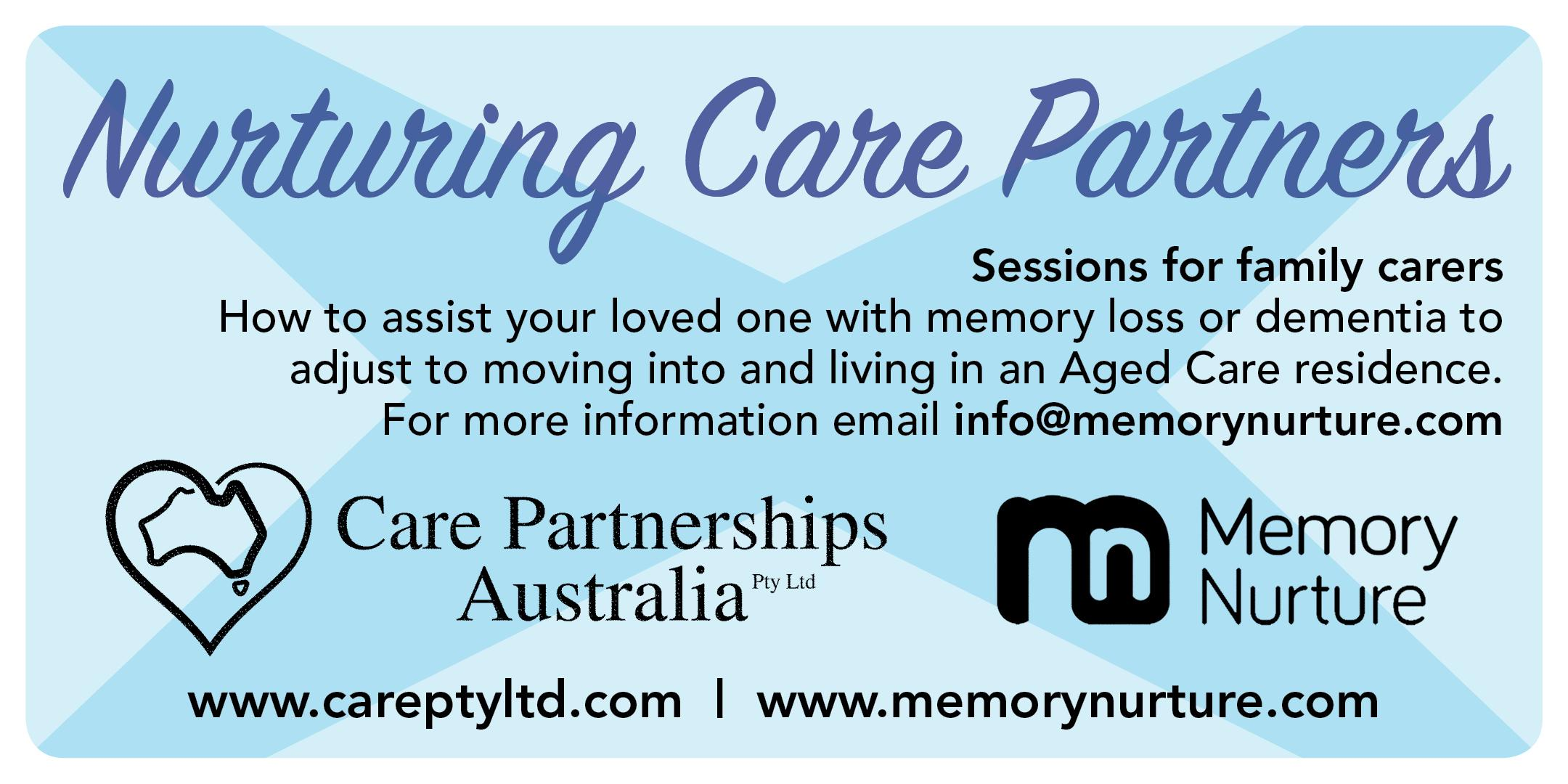 Nurturing Family Carers ~ Moving into an Aged