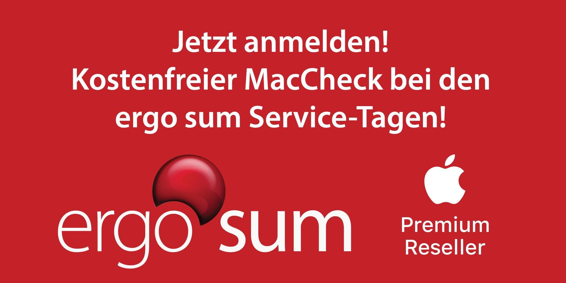Service-Tage bei ergo sum - kostenfreier Check für Deinen Mac, iPad oder iPhone
