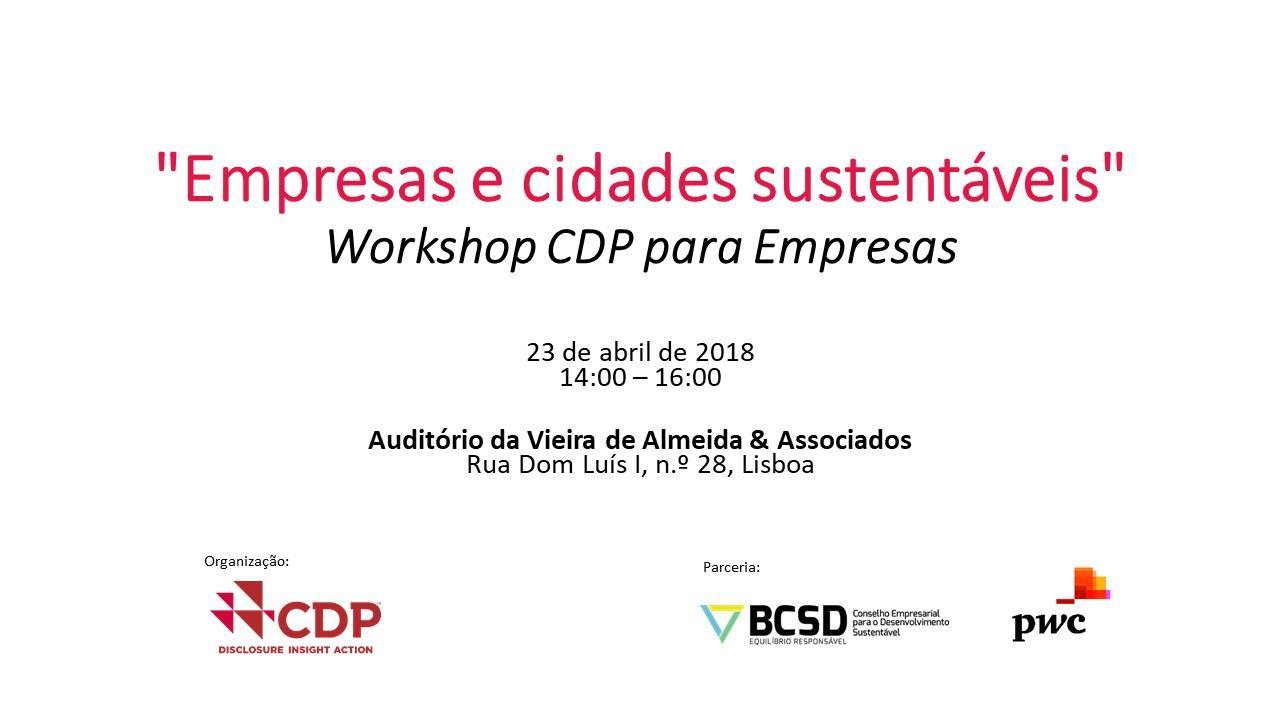 """""""Empresas e cidades sustentáveis"""" - Workshop"""