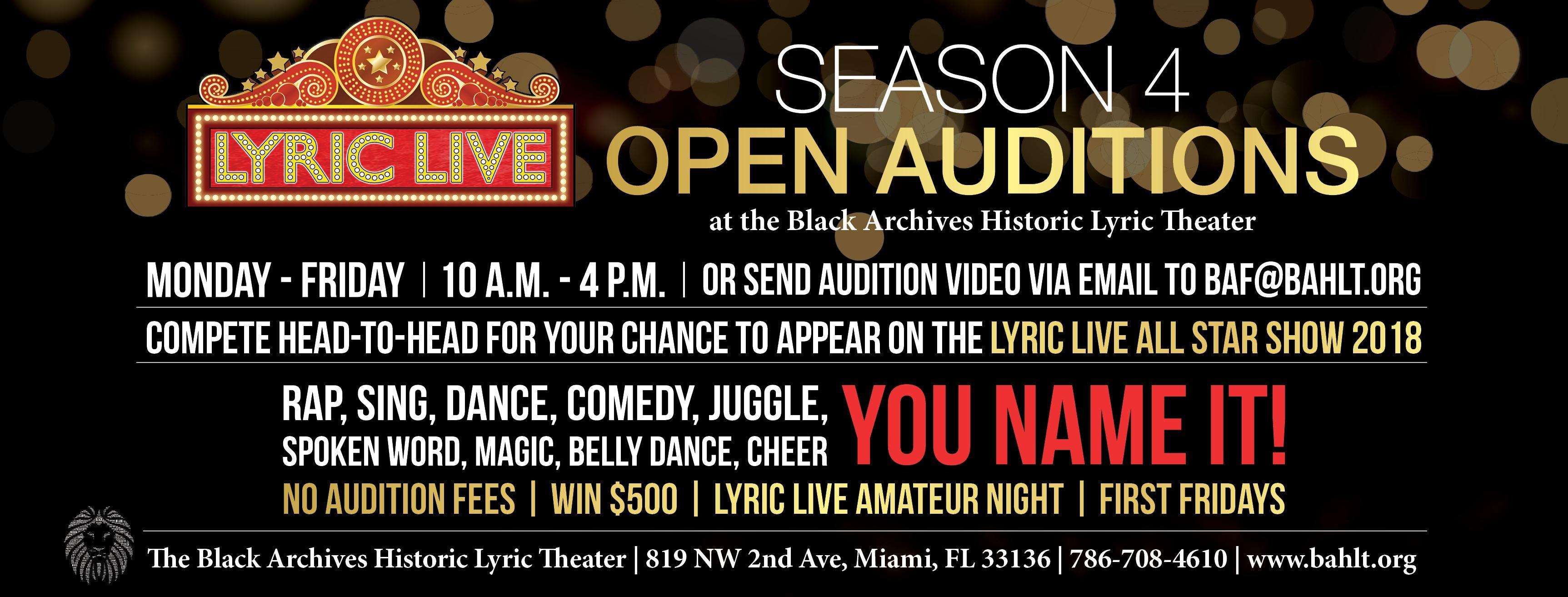 Lyric Live @ The Black Archives Historic Lyric Theater