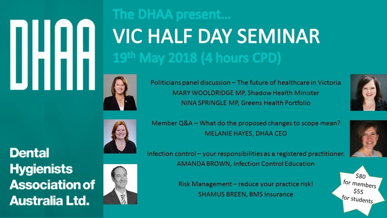 "DHAA VIC - Half day seminar ""Risky Business"""