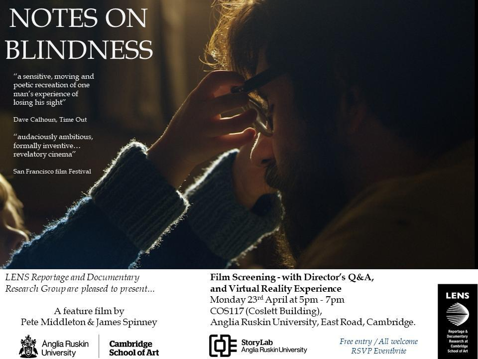 NOTES ON BLINDNESS: Film screening, Director'