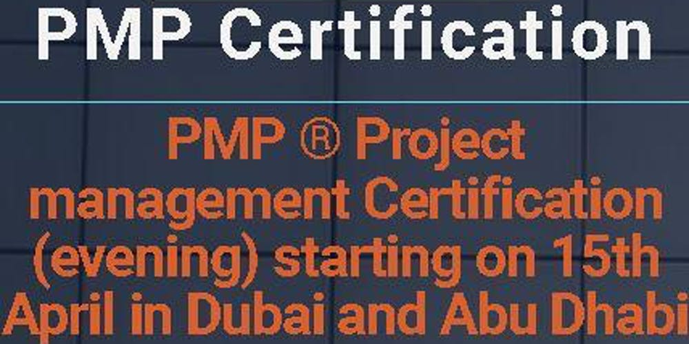 PMP ® Project management Certification (evening) starting on 3rd May ...