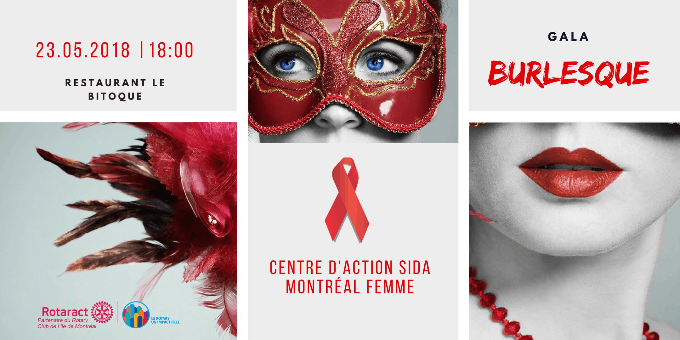 Gala Burlesque au profit du Centre d'Action S