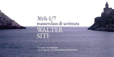 MasterClass di Scrittura con Walter Siti