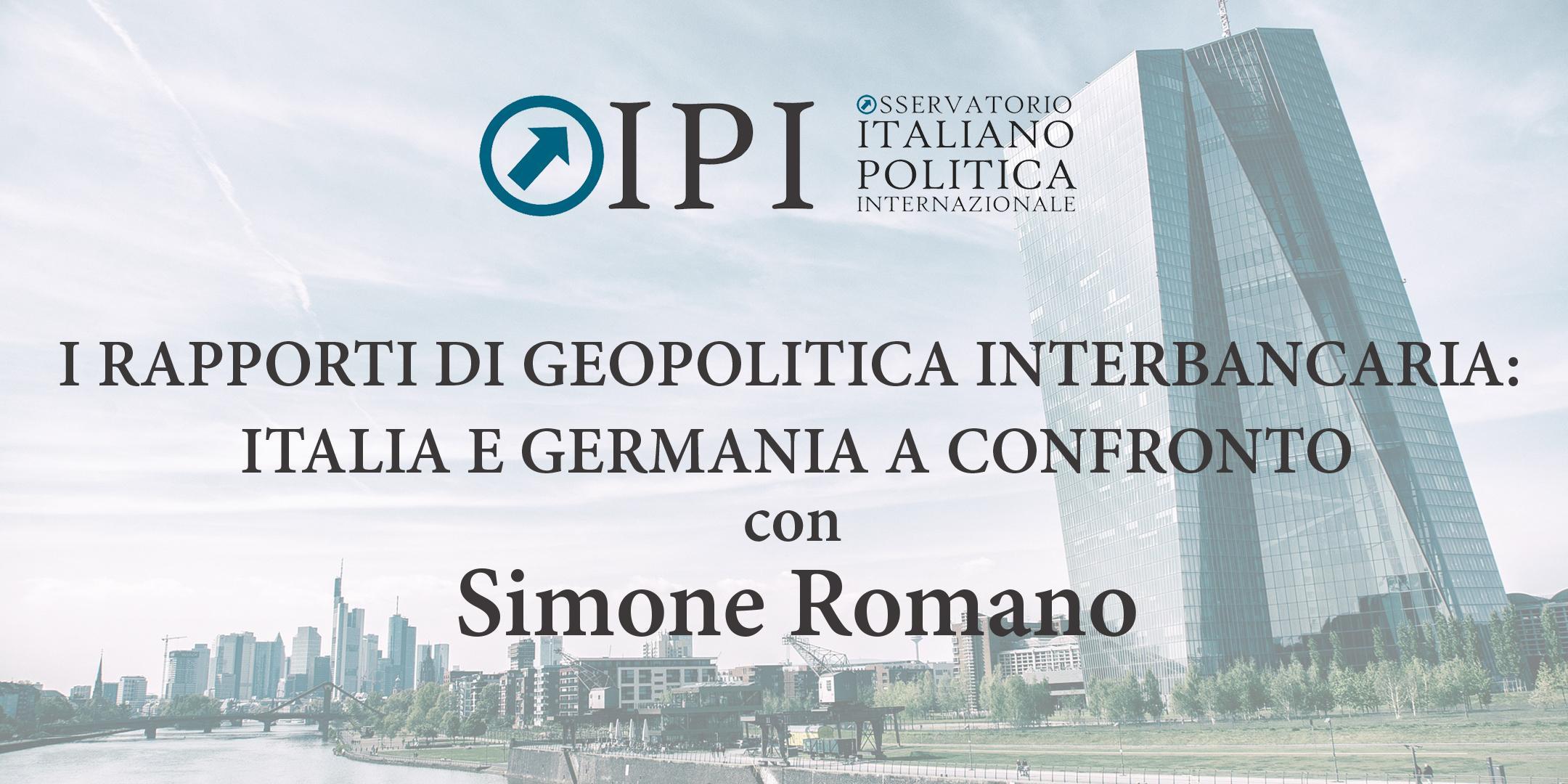 I RAPPORTI DI GEOPOLITICA INTERBANCARIA: ITAL