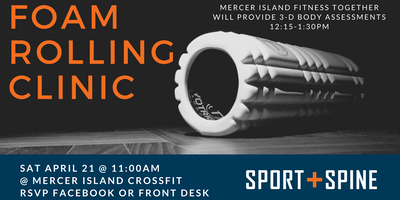 event in Seattle: Foam Rolling and Body Assessment Clinic