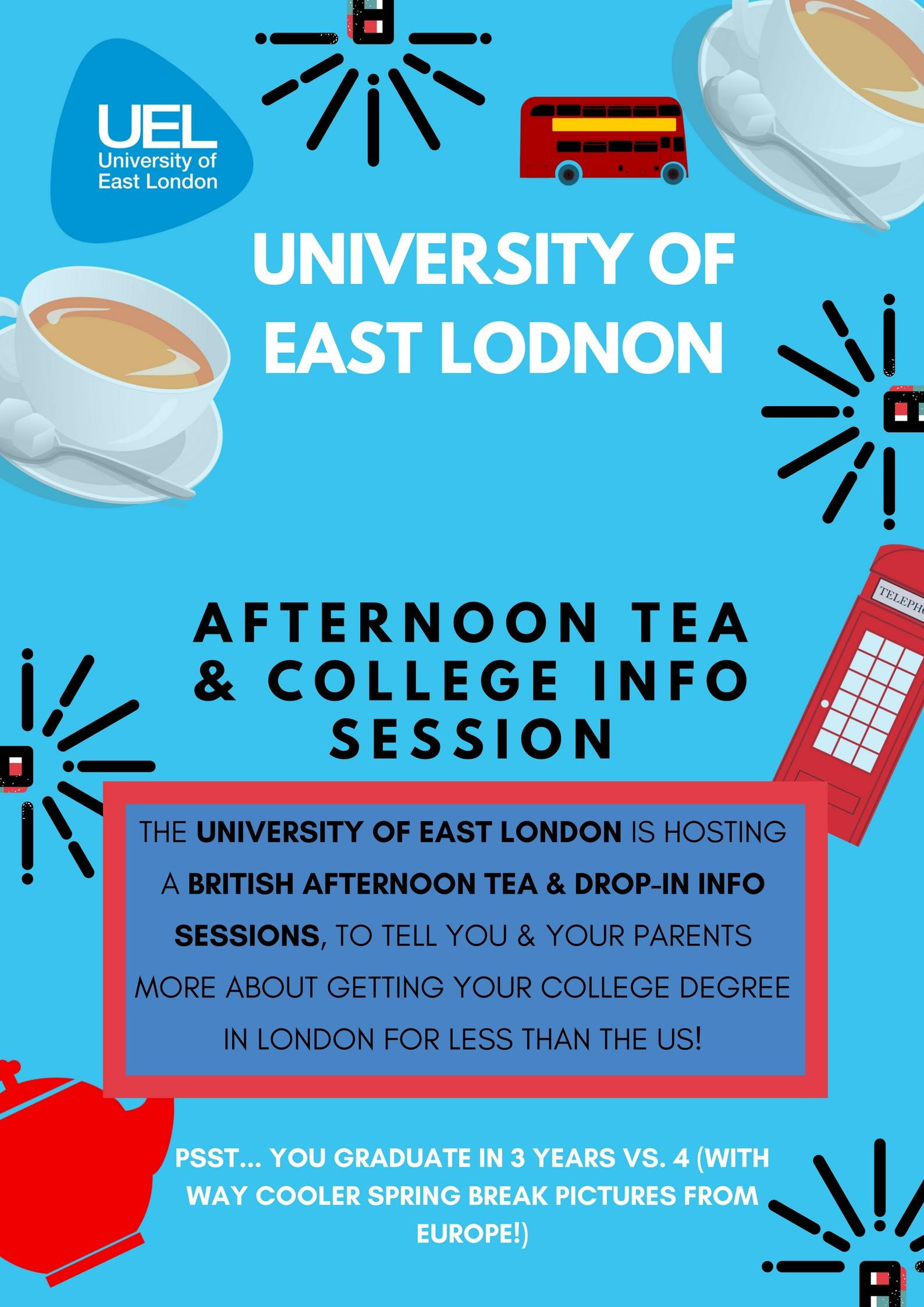 Afternoon Tea with UEL: College Information S