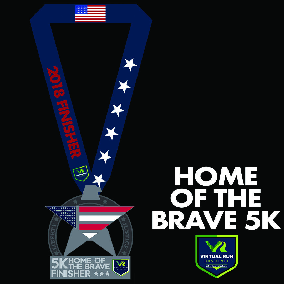 Home of the Brave Virtual 5k Run Walk - Huntington Beach