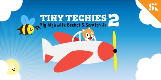 Tiny Techies 2: Fly High with Beebot & Scratch Junior, [Ages 5-6], 9 Dec - 13 Dec Holiday Camp (9:30AM) @ Bukit Timah
