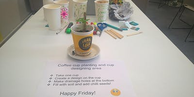 Coffee cup planting and design workshops