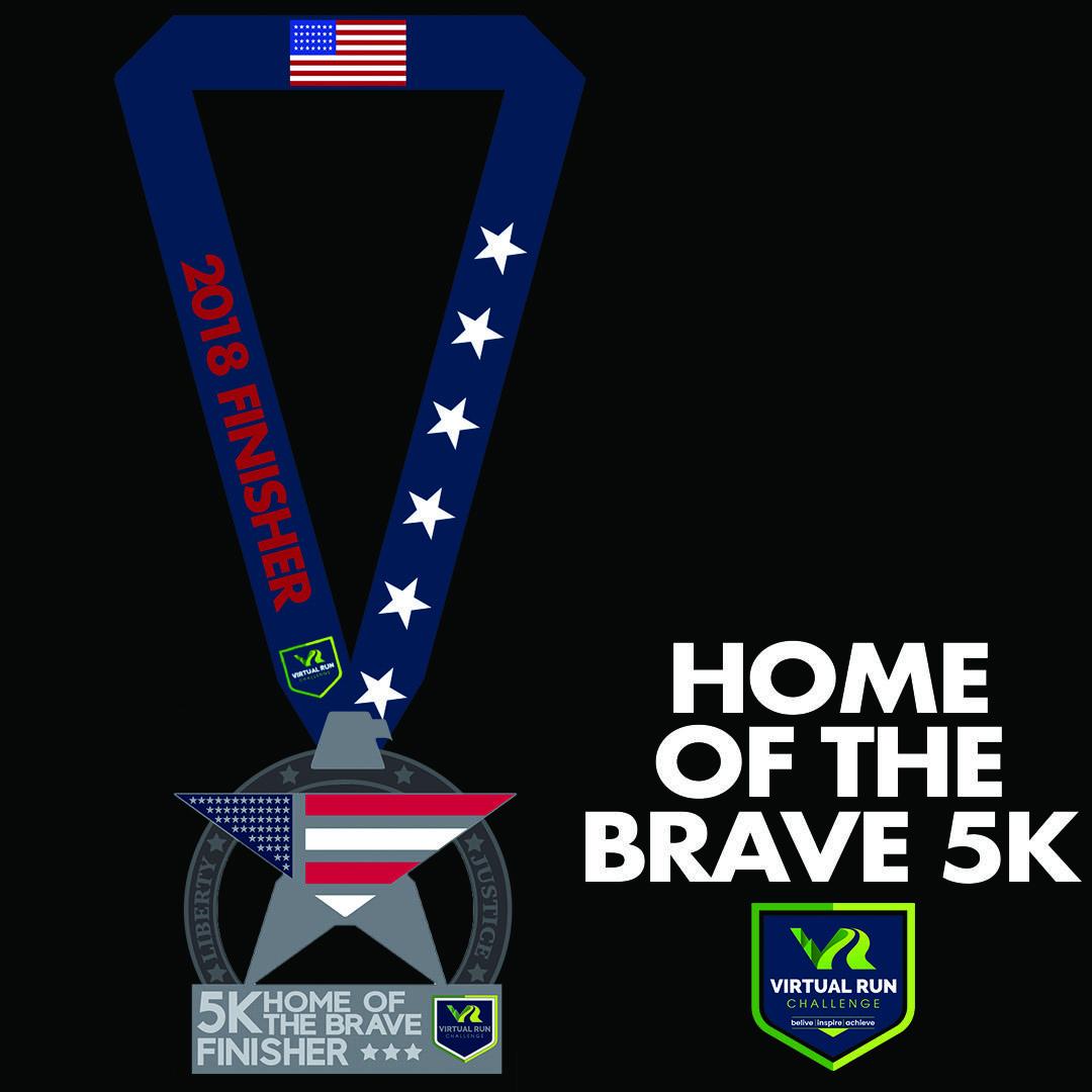 Home of the Brave Virtual 5k Run Walk - Torrance