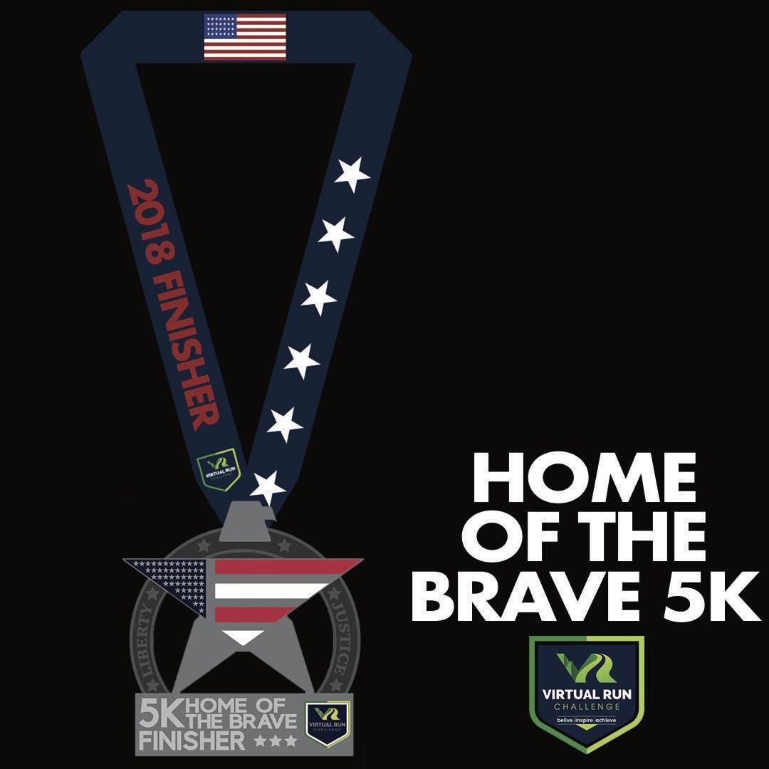 Home of the Brave Virtual 5k Run Walk - Waterbury