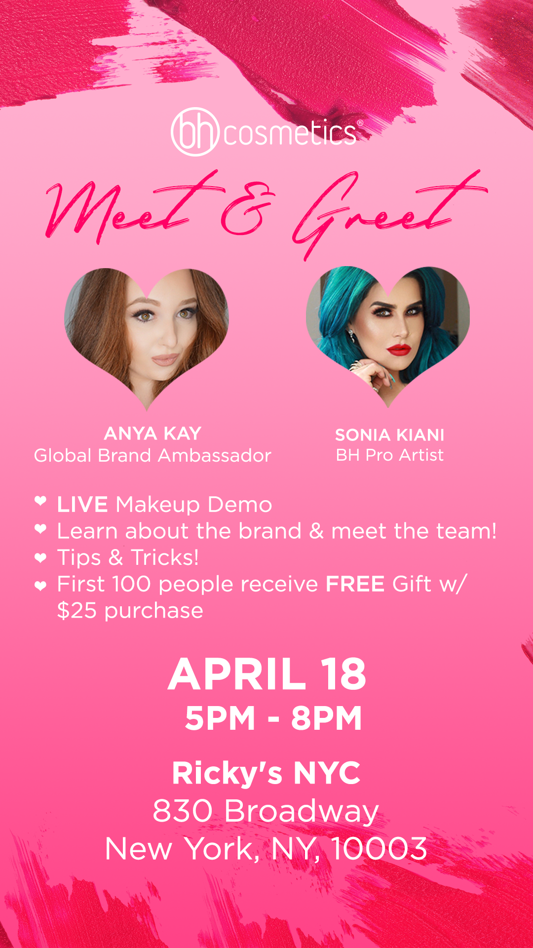 Ricky S Nyc Bh Cosmetics Live Makeup Demo 18 Apr 2018