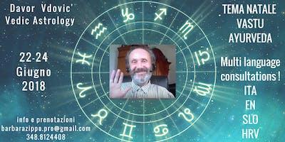 Davor Vdovic' Vedic Astrology - Vastu - Ayurveda. - Consultations Ita-En-Slo-Hrv.