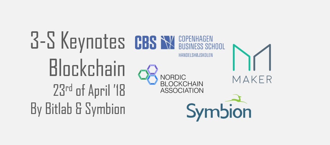 3S - Blockchain - keynotes by Symbion and Bit