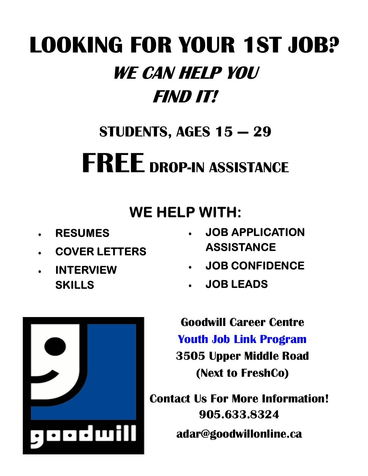 Do You Need a Job?Are You Between 15-29 yrs :