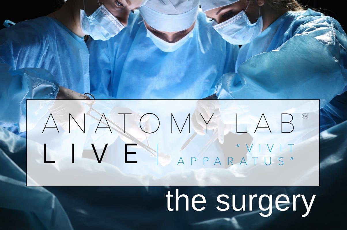 ANATOMY LAB LIVE : THE SURGERY | Dublin 27/04/2019