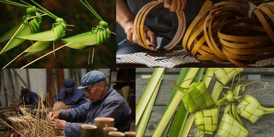 """Chinese Artisans in Florence! — """"Bamboo/Leaf Weaving Experience"""""""