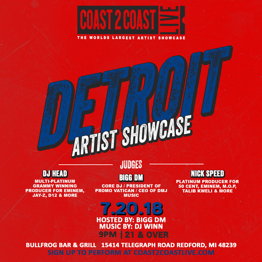 Coast 2 Coast Live Artist Showcase | Detroit