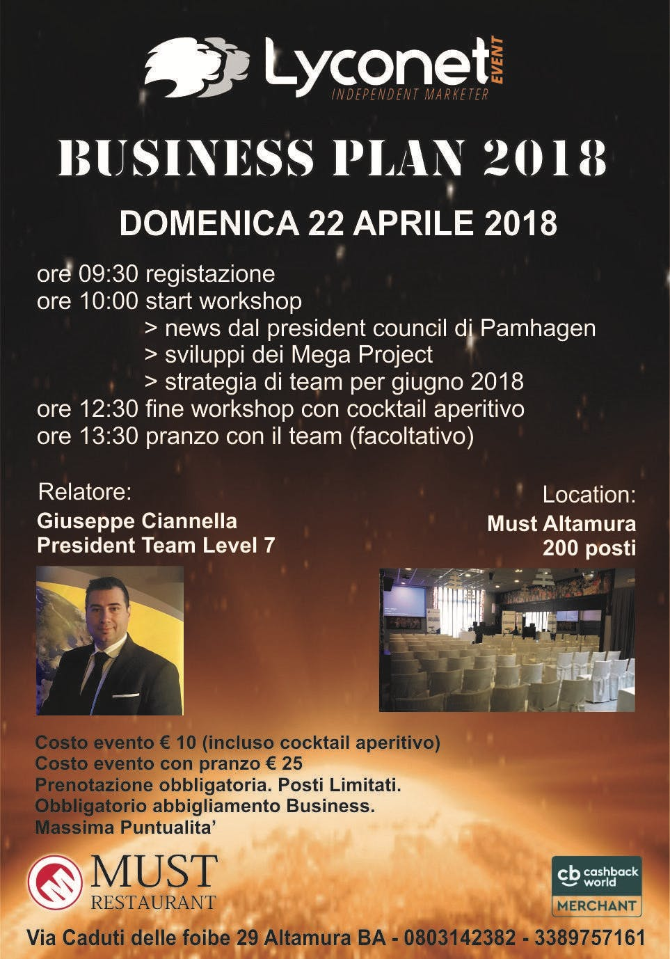 WORKSHOP BUSINESS PLAN 2018