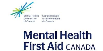 2-day Mental Health First Aid Workshop - March 2019