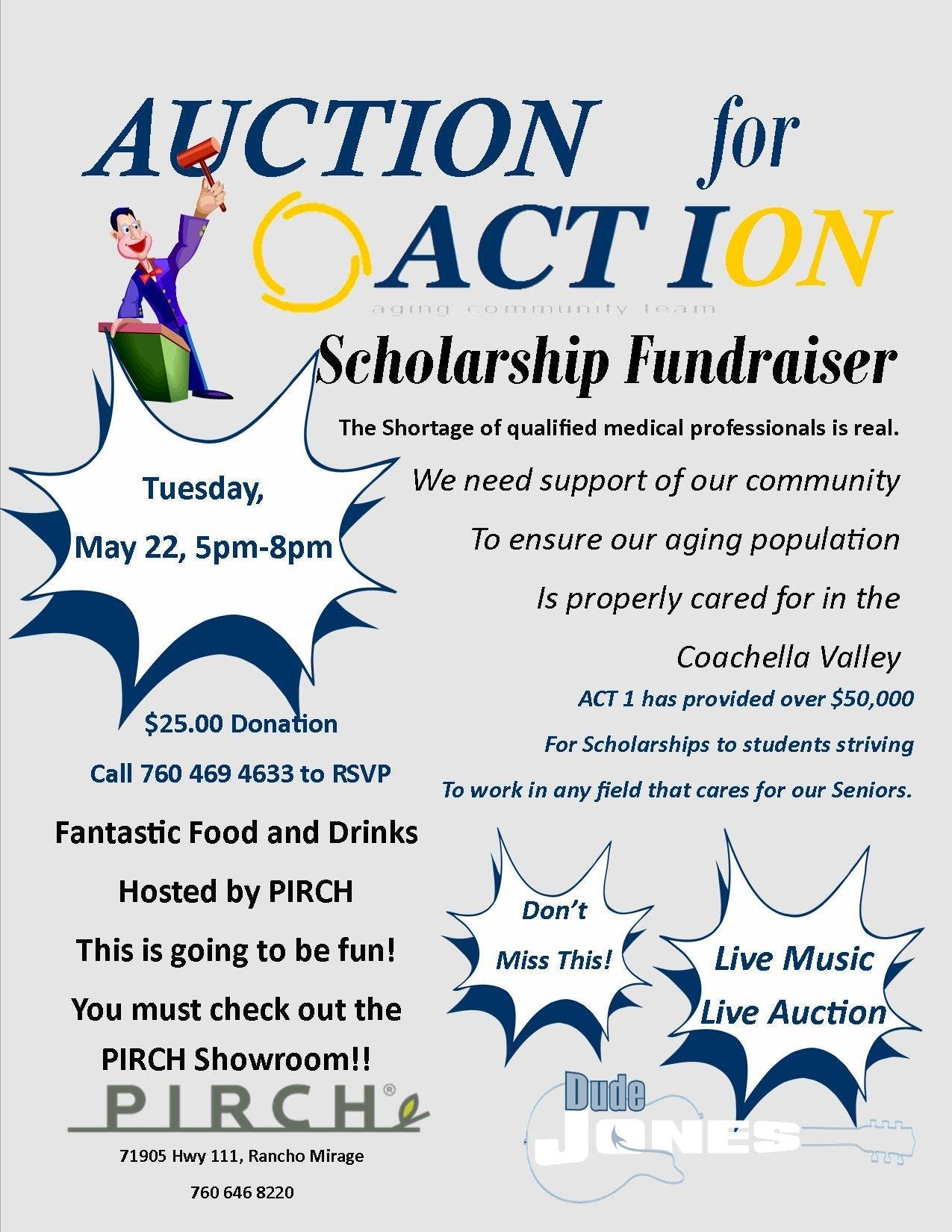Auction for Action Scholarship Fundraiser