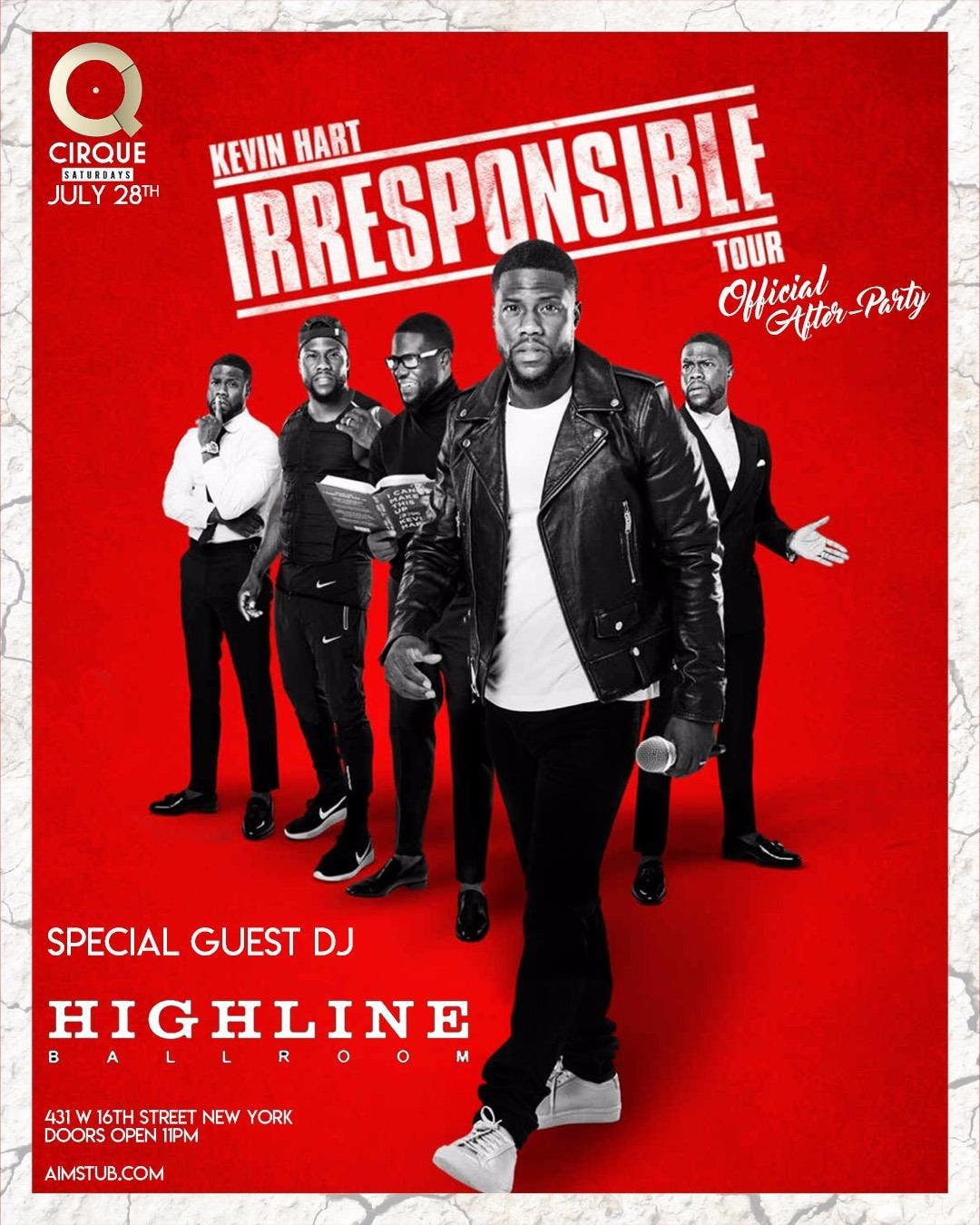 Kevin Hart Irresponsible Tour Official Afterp