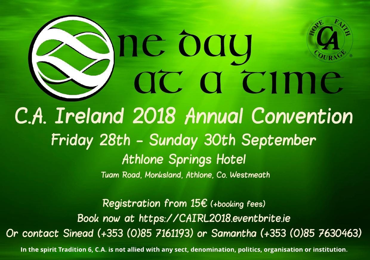 C.A. Ireland Convention 2018 - One Day At A Time